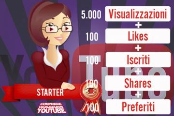 Pacchetto visualizzazioni YouTube Starter Plus