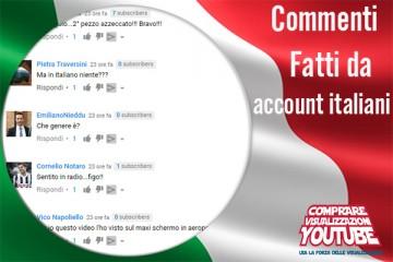 commenti YouTube italiani reali