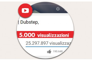 5.000 visualizzazioni YouTube