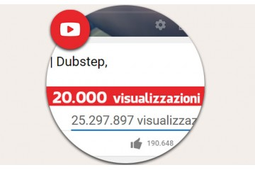 20.000 visualizzazioni YouTube