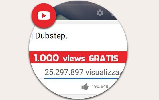 Comprare 1.000 visualizzazioni gratis