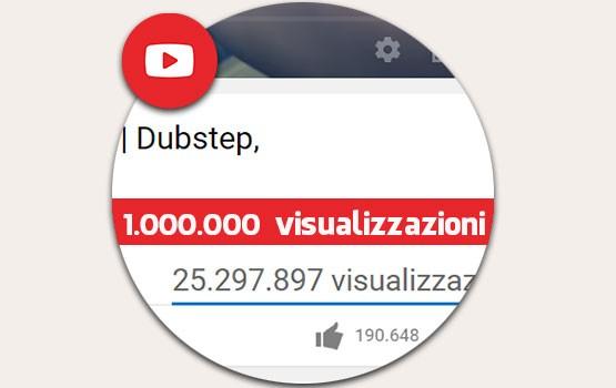 1.000.000 visualizzazioni YouTube