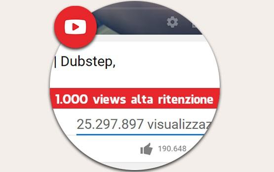 1.000 visualizzazioni alta ritenzione youtube