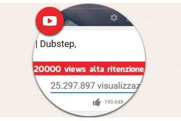20.000 visualizzazioni alta ritenzione Vere