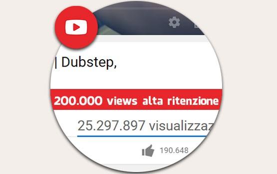 200.000 visualizzazioni alta ritenzione