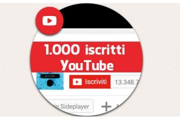 Più iscritti su YouTube con 1000 iscrizioni