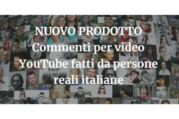 Comprare commenti YouTube fatte da persone vere italiane