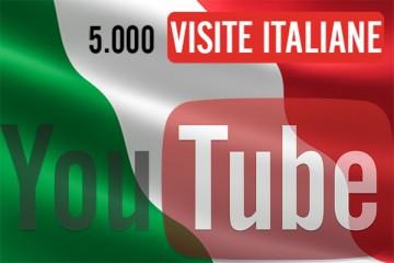5.000 visualizzazioni YouTube Italiane