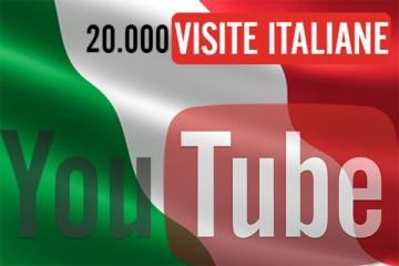 20.000 visualizzazioni YouTube Italiane
