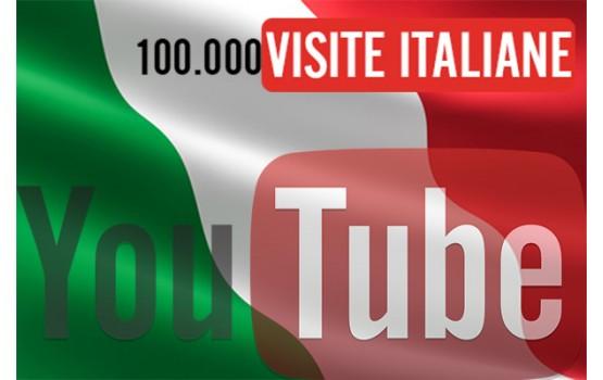 100000 visite YouTube Italiane vere