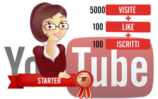 Pacchetto visualizzazioni YouTube Starter