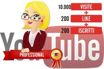 Pacchetto visualizzazioni YouTube PROFESSIONAL