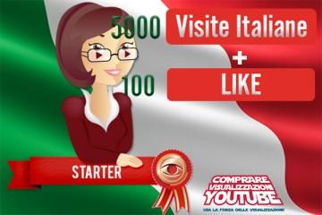 Pacchetto visualizzazioni YouTube Italia Starter