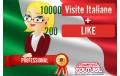 Visualizzazioni e liike YouTube Italia Professional