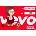 Visualizzazioni + likes Vevo-YouTube Starter