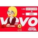 Likes + Visualizzazioni per canali Vevo-YouTube Professional