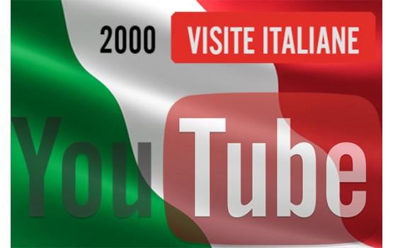 2.000 visualizzazioni YouTube Italiane