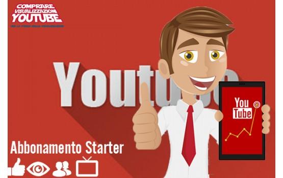 Abbonamento mensile Marketing YouTube Starter