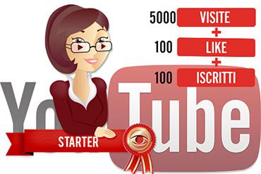 pacchetti visualizzazioni youtube